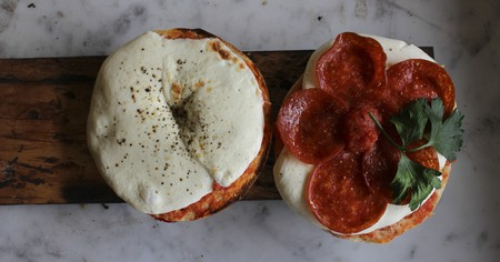 Pizza bagels provide a cheeky twist on New Yorkers' two favorite foods