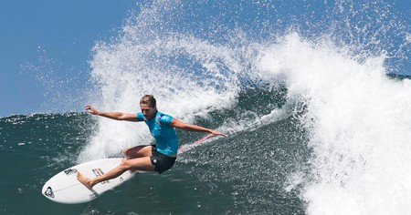 Australian Stephanie Gilmore competes in the Corona Bali Protected surfing event on May 25, 2019