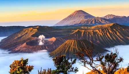The Bromo volcano at in sunrise, Indonesia.
