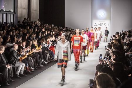 Designer Amesh Wijesekera showcases his work at Mercedes-Benz Fashion Week in Berlin Autumn/Winter 2019