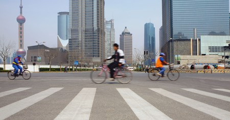 Shanghai is a bike-friendly city
