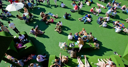 This space by the Royal National Theatre is a good place to hang out in summer