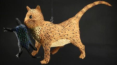 A whimsical creature reimagined as a piñata
