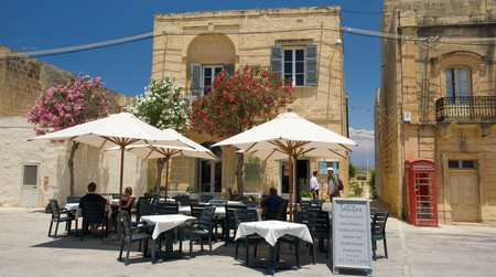 Street Cafe in San Lawrenz, Malta.