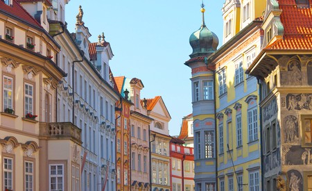 Colourful houses in Prague Old Town