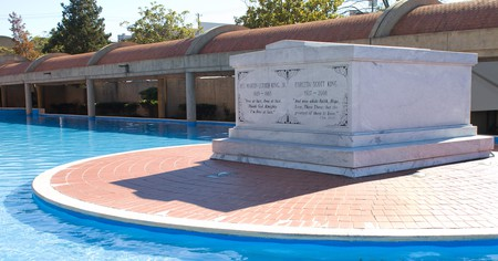 Martin Luther King Jr and his wife Coretta are buried at The King Center