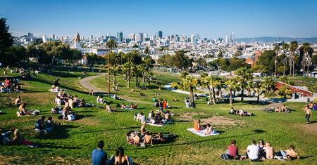 Mission Delores Park, in San Francisco, California
