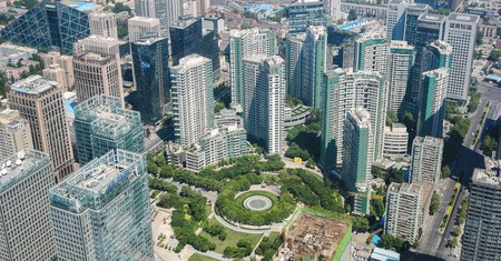 Beijing's Central Business District is populated by global company headquarters