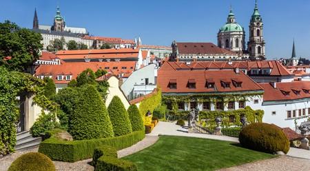 The high baroque garden of Vrtbovská Zahrada in Prague was built in 1720