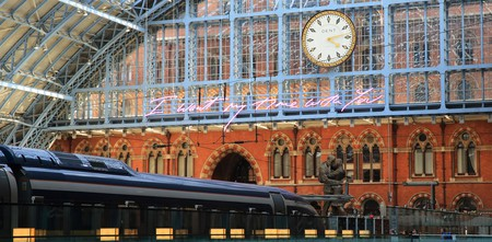 London's St Pancras International train station opened in 1868