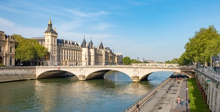 The Seine River runs through the city of Paris
