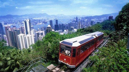 The Peak Tram has been shuttling people up Victoria Peak for more than 100 years