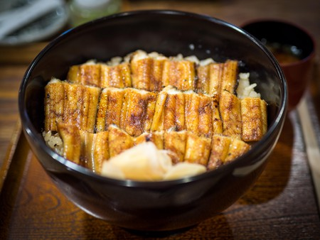 The famous conger eel rice bowl from the restaurant Ueno Anagomeshi