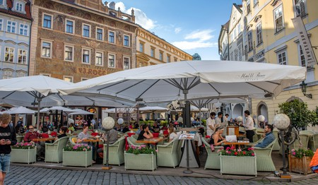 Al fresco dining in Prague, which has some great places to get breakfast and brunch