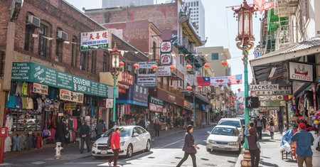 Chinatown in San Francisco, California, is a bustling area