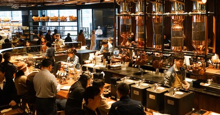 Shanghai is home to one of the largest Starbucks branches in the world