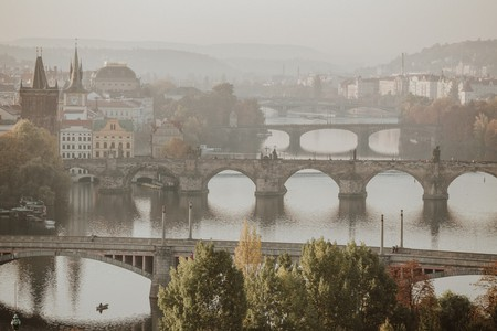 "Prague is known as ""the City of a Hundred Spires"" and famed for its Charles Bridge, among other landmarks"