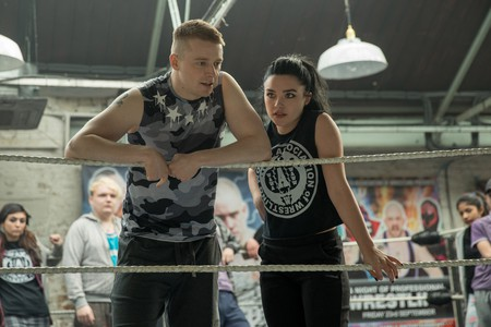 Jack Lowden and Florence Pugh play wrestling siblings Zak and Paige