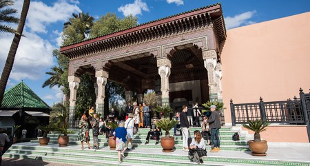 People visit the 1-54 Contemporary African Art Fair, Marrakech 2018, at La Mamounia
