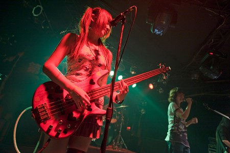 Underground rock girls' band called Black Barika at the 13 Club in Beijing, China.