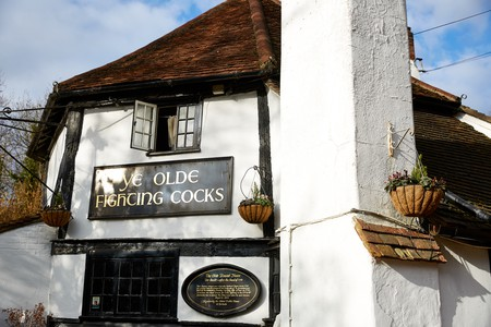 Ye Olde Fighting Cocks, St Albans, England
