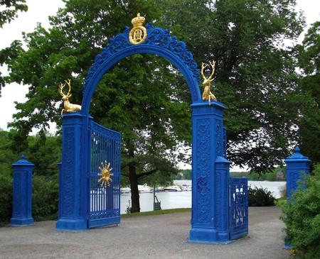 Gates at the Djurgarden (The Royal Game Park), an island in central Stockholm, Sweden.
