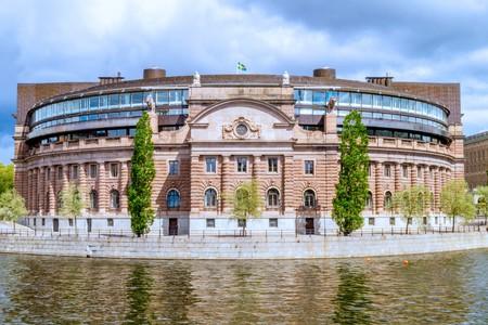 The Riksdag sits on the tiny island of Helgeandsholmen