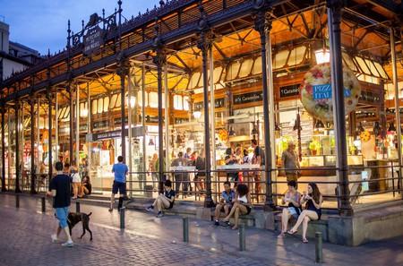 San Miguel market, in Plaza de San Miguel.  Madrid. Spain.