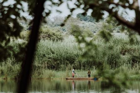 Traditional fishing on the Zambezi River
