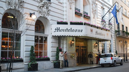 Hotel Monteleone entrance in New Orleans Louisiana United States of America