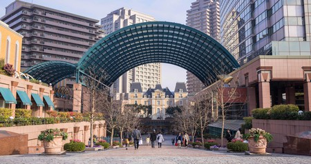 People take a stroll through the Yebisu Garden Place, Tokyo