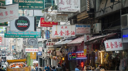 Hong Kong's SoHo district is filled with bars, restaurants and shops