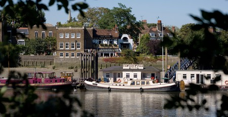 The history-rich Dove sits on the banks of the River Thames