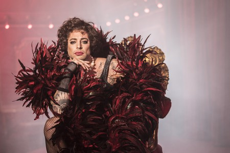 Duncan James as Frank-N-Furter in 'The Rocky Horror Show'