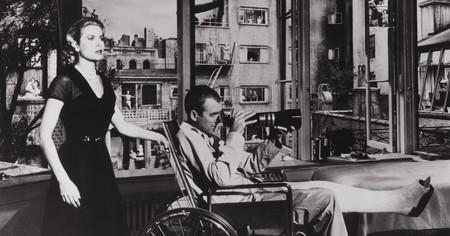 Grace Kelly and James Stewart in 'Rear Window'