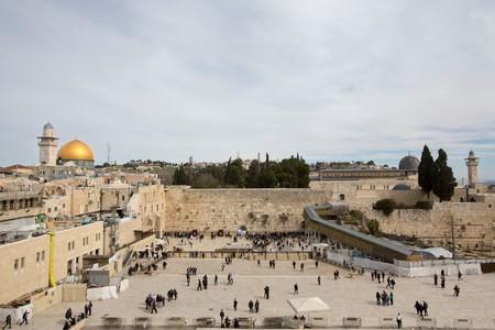 People visit the Western Wall, Jerusalem, Israel