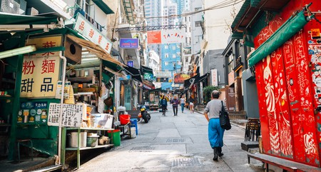 SoHo in Hong Kong is home to a variety of bars and restaurants