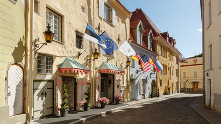 Schlössle Hotel occupies a medieval merchant's house in the Old Town of Tallinn