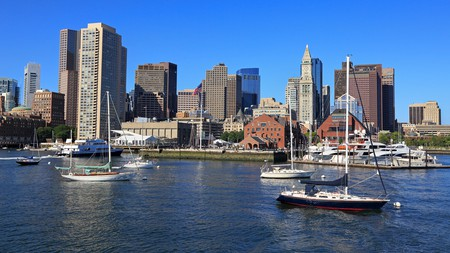 The skyline at Boston Harbor, capital of Massachusetts and one of America's great cities