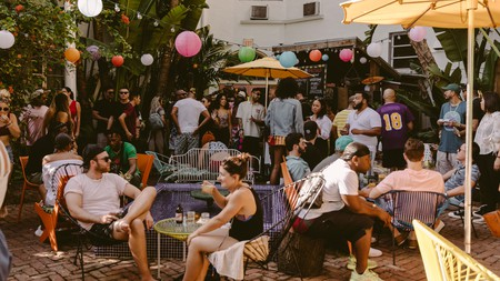 The Eazy Pool Party at Broken Shaker is a popular Sunday destination