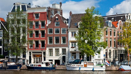 Amstel Canal in Amsterdam