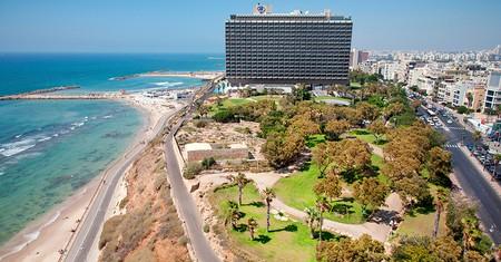 Hilton Hotel and Independence Park, Ha'yarkon Street, Tel Aviv, Israel