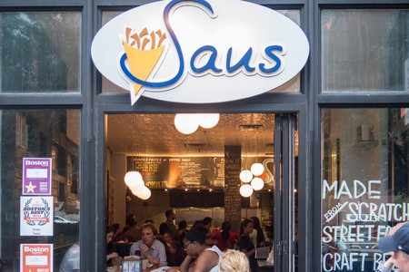 Saus Belgian restaurant; Boston