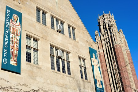 The renowned Oriental Institute and museum at the University of Chicago, one of the nation's highest regarded universities, Chicago, IL. USA.