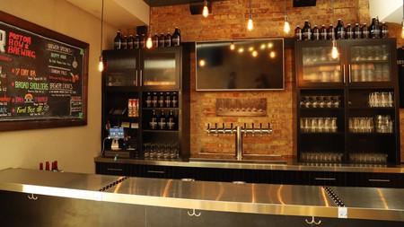 Motor Row Brewery serves their flagship beers alongside seasonal brews