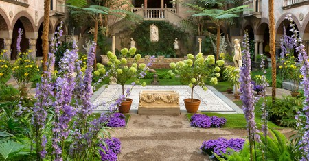 The courtyard at the Isabella Stewart Gardner Museum is a piece of art itself