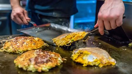 Osaka-style okonomiyaki is a favourite throughout Japan