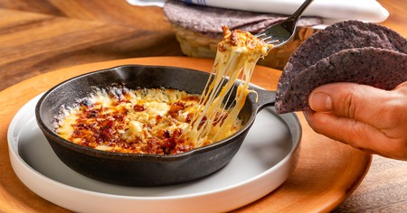 BAKAN's queso fundido is served with freshly made tortillas
