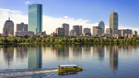 Boston Duck Tours takes visitors on an 80-minute tour of Boston