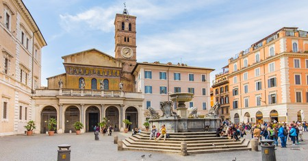 The Basilica di Santa Maria in Trastevere dates back to the third century